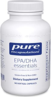 Pure Encapsulations - EPA/DHA Essentials - Ultra-Pure, Molecularly Distilled Fish Oil Concentrate - 90 Soft...