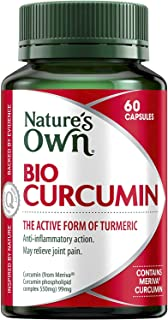 Nature's Own Bio-Curcumin - Antioxidant - Reduces Inflammation - Relives Mild Joint Pain - Reduces Stress, 60 Capsules