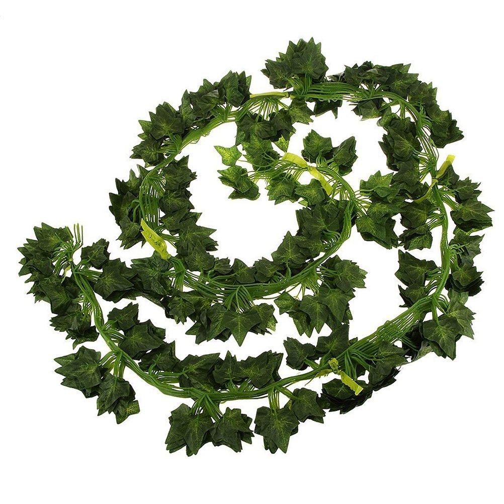 FENICAL 12 guirnaldas artificiales falsas para colgar en la pared, decoración del hogar, jardín, guirnaldas de hojas de patata, hiedra venenosa para decoración de boda: Amazon.es: Hogar