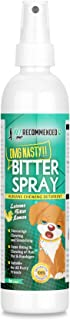 Vet Recommended - Bitter Lemon Spray for Dogs - OMG Nasty - Anti Chew Dog Repellent Spray & Dog Training Tool to Stop Biting - Alcohol Free, Non-Toxic and Safe Chewing Deterrent. (8oz/240ml)