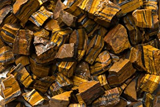 Fantasia Materials: 2 lbs Gold Tiger Eye AAA Grade Rough Stones from South Africa