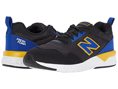 New Balance Kids 515 Sport (Little Kid/Big Kid) (Black/Marine Blue) Boys Shoes