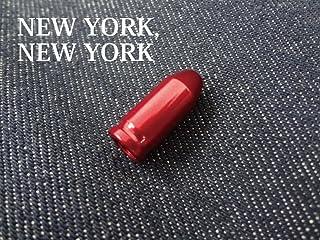 【NEW YORK,NEW YORK】カメレオンバルブキャップ/レッド[カラータイヤ][700C][シングルスピード][ピストバイク][ピスト][ツーリング][自転車][フリーギア][PIST]