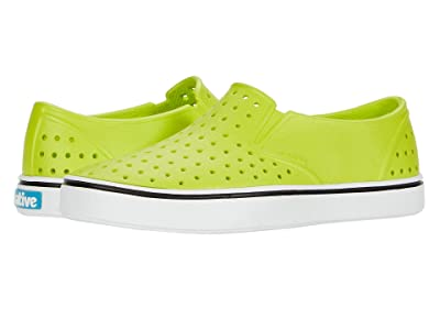 Native Kids Shoes Miles Slip-On (Little Kid/Big Kid) (Chartreuse Green/Shell White) Boys Shoes