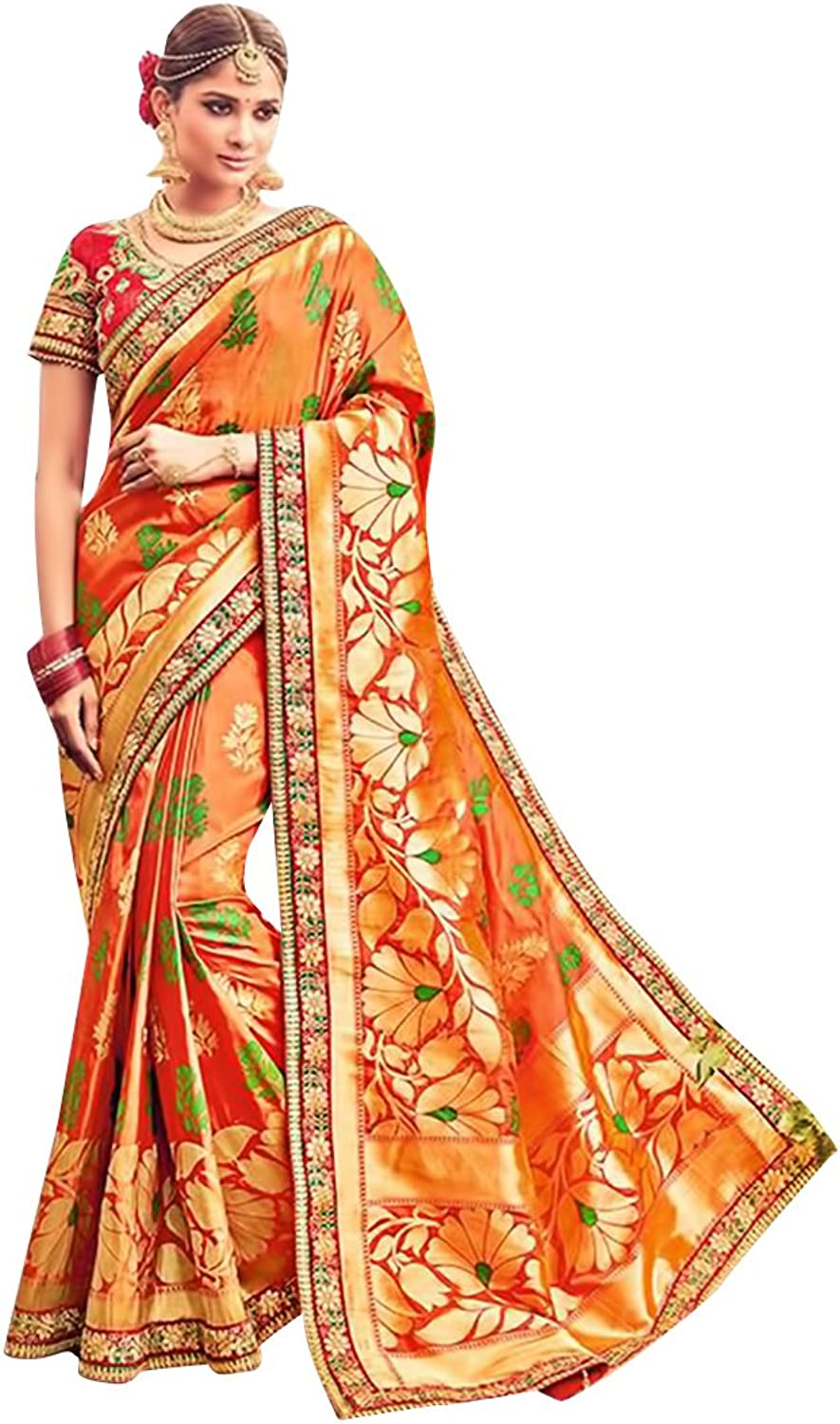 Bridal Silk Saree Sari New Launch Collection Blouse Wedding Party Wear Ceremony Women Muslim Eid Kaftan
