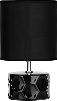 Set Of 2 Owen Navy Blue Ceramic 24cm Table Lamp Bedside Lights With Matching Shades Amazon Co Uk Lighting