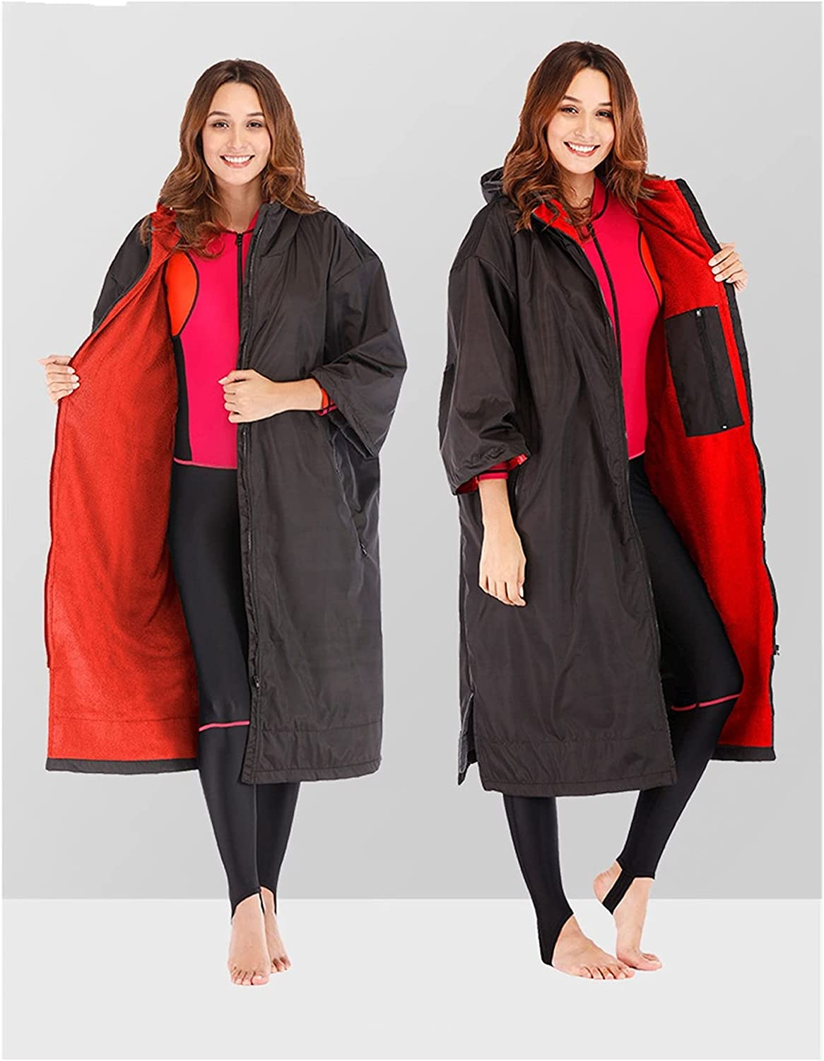 Fresno Mall PJRYC Large discharge sale New Windproof and Thick Cloak Warm Spo Outdoor Windbreaker