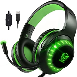Pacrate 7.1 Stereo Gaming Headset for PS4, Xbox One, PC with Noise Cancelling Mic Surround Sound Gaming Headset, Soft Memo...