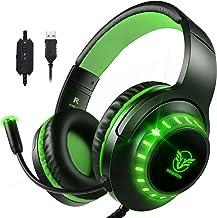 Pacrate Gaming Headset voor PS4 Xbox One PC Hoofdtelefoon met Microfoon Noise Cancelling 7.1 Stereo SoundCompatibel met Ni...