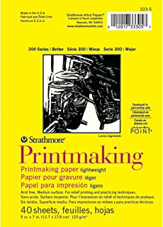 "Strathmore (333-5 300 Series Lightweight Printmaking, 5""x7"", 40 Sheets"