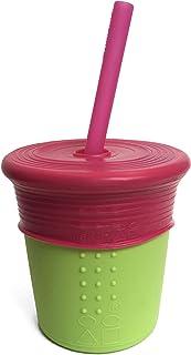 GoSili Straw Cup 8oz. Lime/Berry