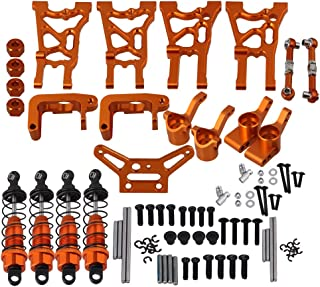 Mxfans Orange Aluminum Alloy Upgrade Parts Servo Linkages Suspension Arm Shock Absorber Hub Carrier HPI WR8 Flux RC1:10 Rally Car Set of 21