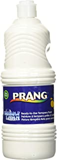 PRANG Ready-to-Use Washable Tempera Paint, 32-Ounce Bottle, White (10907)