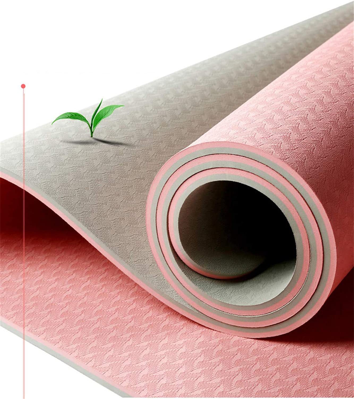 Mmengyuan TPE Yoga Mat Anti-Rutsch-Verbreiterung Verdickte Verlngerung Anfnger Tanz Fitness Mat Home Breite 80Cm