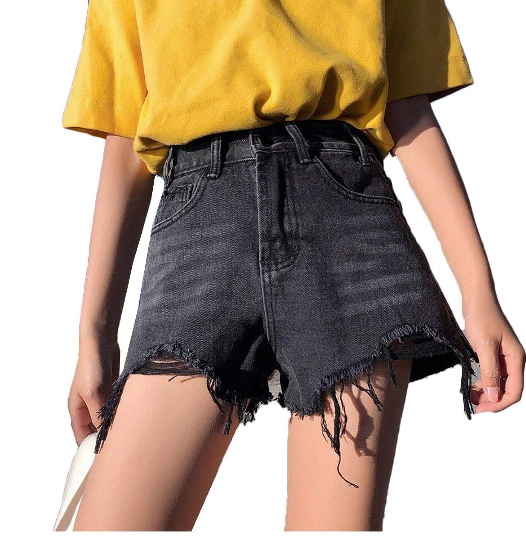 【ごはん】夏服 デニムショートパンツ ファッション レディース デニム ショート ハイウエスト パンツ