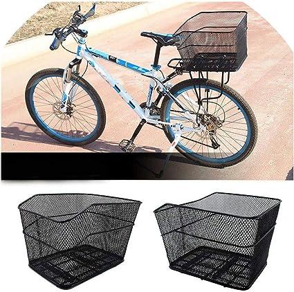 Ciclismo Rikey Bicicletas Cesta De Bicicleta De Acero Desmontable Cesta De Bicicleta Cesta De Metal Cesta De Bicicleta Delantera Plegable Cesta Cesta Para Bicicletas Plegables Bicicletas De Montaña Deportes Y Aire Libre