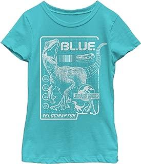 Jurassic World: Fallen Kingdom Girls' Jurassic World Fallen Kingdom Blue Details T-Shirt