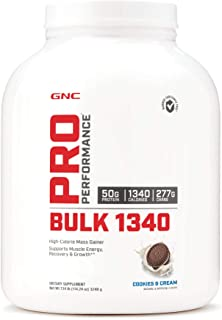 GNC Pro Performance Bulk 1340, Cookies and Cream, 7 lbs, Supports Muscle Energy, Recovery and Growth
