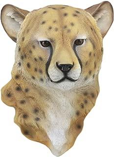 Ebros Safari Lightning Cheetah Head Wall Decor 3D Plaque 16