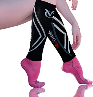VeloChampion Recovery Compression Calf Guards Sleeves Men & Women (20-30mmhg) Best for Shin Splints, Sports, Travel, Leg P...