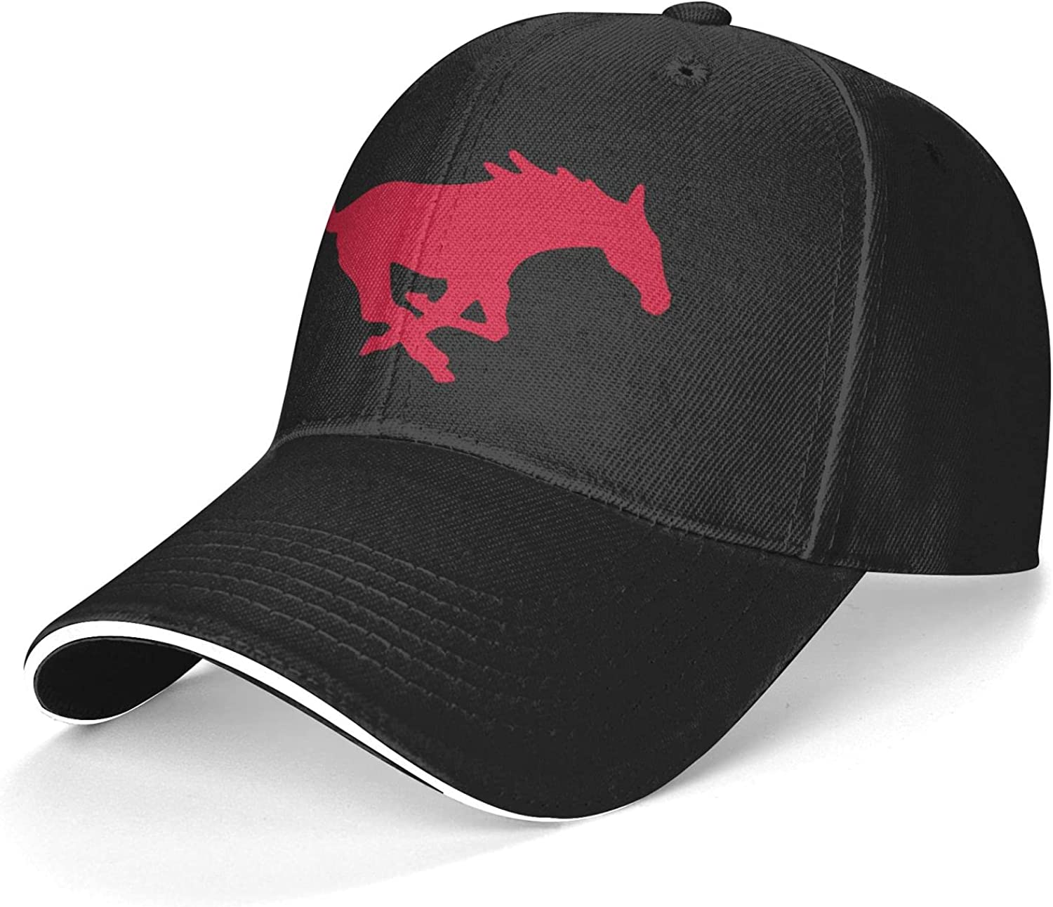 Mens&Womens SMU Mustangs Snapback Hats Caps with College Sport Team Logo for Baseball, Basketball