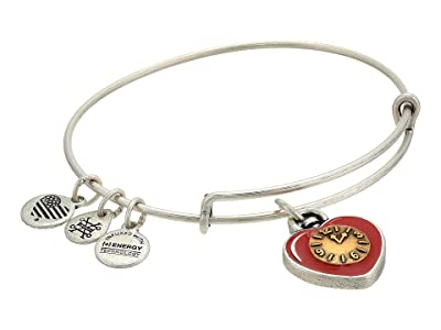 Alex and Ani Wizard of Oz, Heart Bangle Bracelet, Two-Tone (Rafaelian Silver) Bracelet