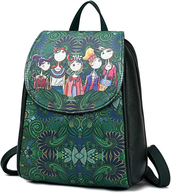 Schultern Tasche Für Für Für Frauen Grün Forest Casual Rucksack College-Stil Große Kapazität Schultasche B07GLT7HND | Überlegen  ddfbfb