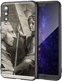 James Barry Huawei P20 Pro用ケース/ファインアート携帯電話ケース/高解像度ジクレーレベルUV複製プリント、携帯電話カバー(ウィリアムピットアールオブチャタム)