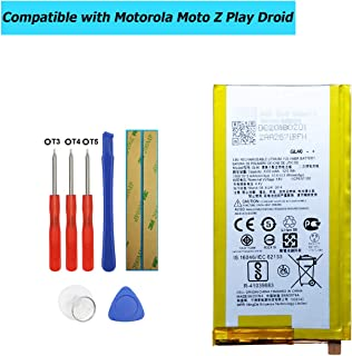Upplus GL40 Replacement Battery Compatible with Motorola Moto Z Play Droid XT1635 SNN5974A with Tools 3300mAh 3.8V