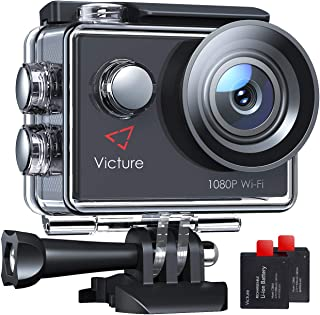 Victure Action Camera 4K WiFi 16MP 98Feet Waterproof Underwater Camera 170øWide-Angle 2 Inch Screen Sports Cam with 2 Rech...