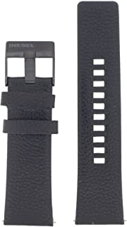 Diesel LB-DZ4323 Bracelet de rechange en cuir pour montre Diesel DZ 4323 Noir 26mm