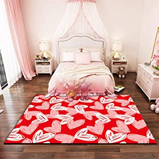 LJN_Home Entrada DoormatsAlfombra de Pelo Corto Rectangular de Color Rojo amoblada Antideslizante Lavable Rectangular...