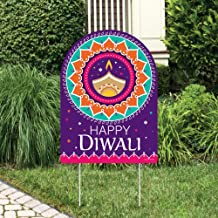 Big Dot of Happiness Happy Diwali - Party Decorations - Festival of Lights Party Welcome Yard Sign