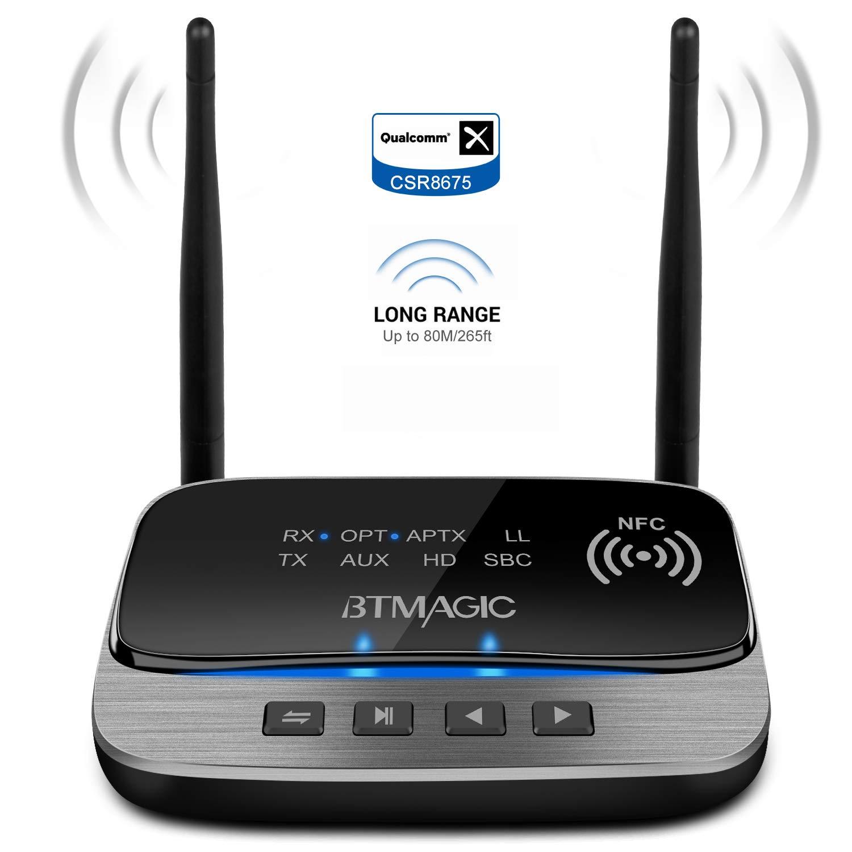 BTMAGIC Bluetooth Transmitter Headphone Rechargeable