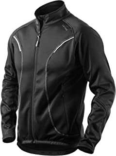 Letook Winter Thermal Fleece Cycling Jacket Men Windproof Warm Cycle Wear