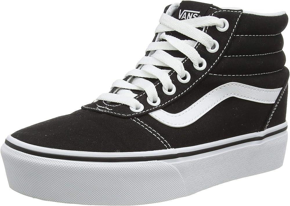Vans ward platform canvas, sneakers alte per donna,tela VN0A4BUC1