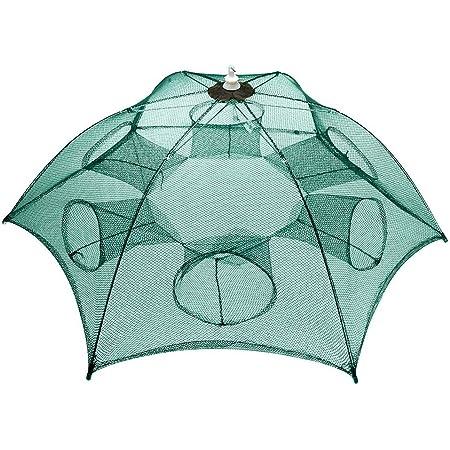 31/'/' Fishing Bait Trap Crab Crawdad Shrimp Net Cast Dip Cage Minnow Foldable US