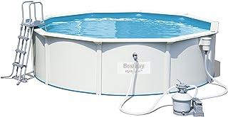 Bestway Hydrium 56384 - Piscina (Piscina con anillo hinchable, Round pool, 17430 L, Azul, Gris, Todas las estaciones, 105 cm)