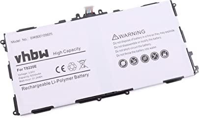 vhbw Akku 8220mAh  3 8V  f r Tablet Pad Netbook Samsung SM-T527P  SM-T525 wie AA1DA04WS 7-B  AA1DA2WS 7-B  AAAD828oS T-B  T8220E