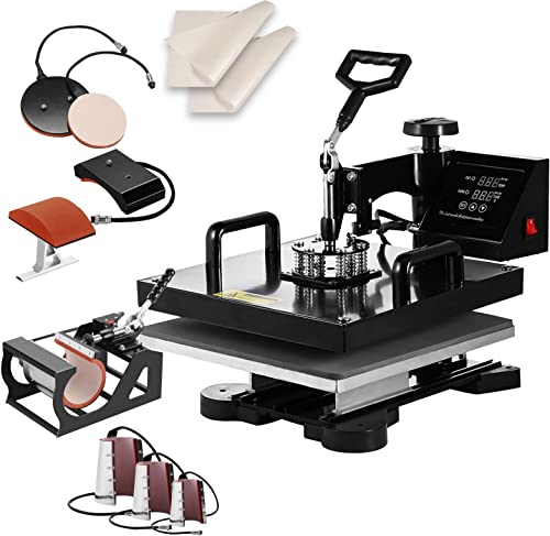 """high quality SHZOND wholesale 15""""x 15"""" Heat Press Machine Heat Transfer Machine for T Shirts Hat 2021 Mug Plate (8 in 1) outlet online sale"""