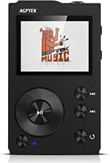 AGPTEK H3 HiFi Bluetooth MP3 Player APTX High Resolution Lossless Digital Audio Player with 32GB Memory Card, Support Up to 256GB, Black
