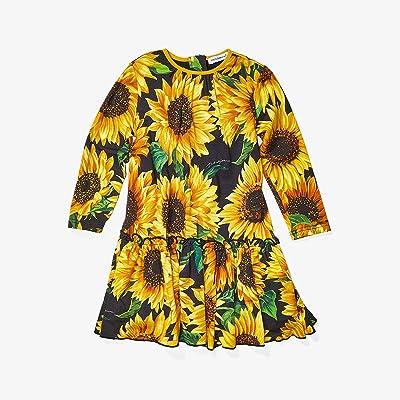 Dolce & Gabbana Kids Sunflower Print Modal Dress (Infant) (Girasoli Nero) Girl