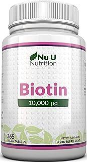 Biotina 10.000 MCG | 365 Comprimidos (Suministro Anual) |