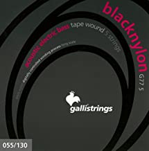 Galli G77-5 BLACK NYLON Acoustic/Electric Bass Tape Wound 5-string