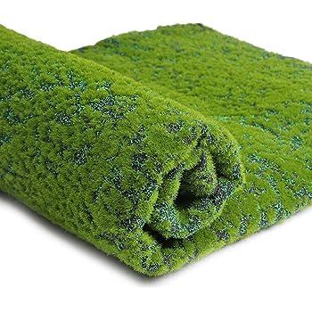 SUPVOX Parche de césped Artificial Alfombra de Musgo Alfombra simulación de liquen Plantas Verdes Falsas para la decoración del Patio del jardín del hogar (Punto Verde): Amazon.es: Hogar