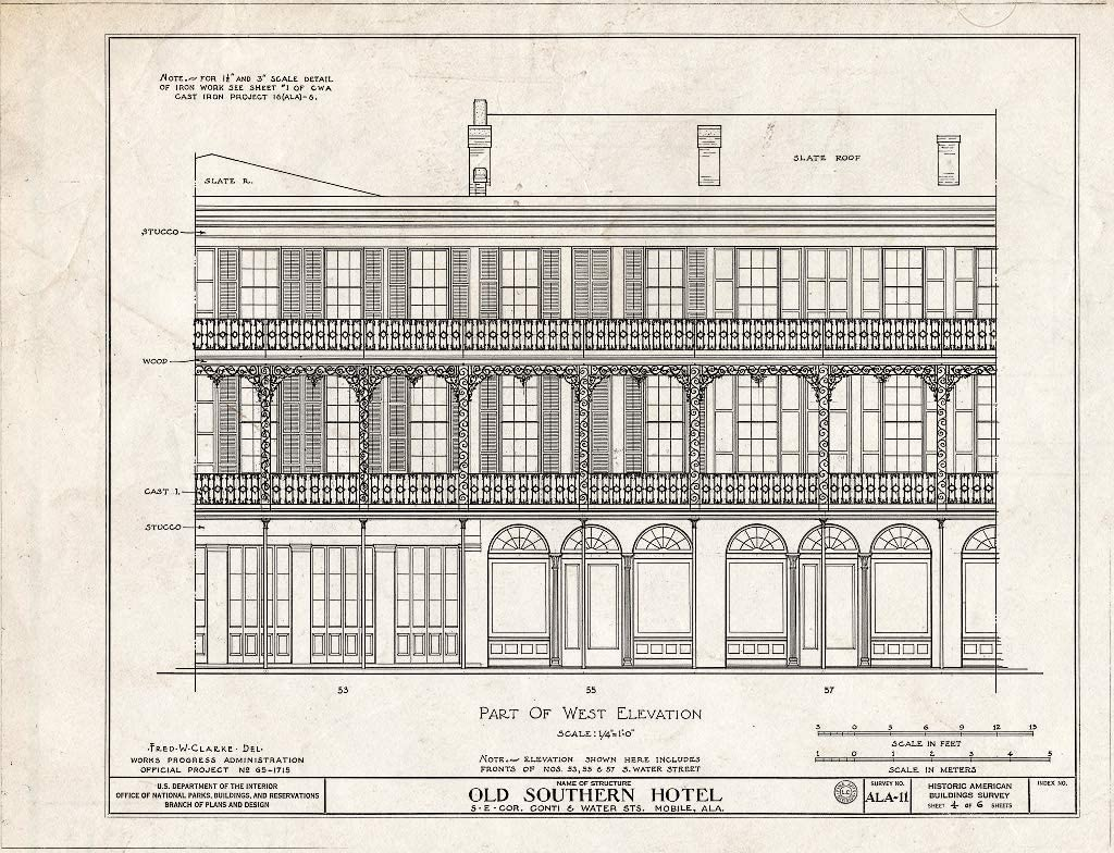 Historic Pictoric : Blueprint Max 42% OFF HABS ALA 6 4 12- 49-MOBI Detroit Mall of Sheet
