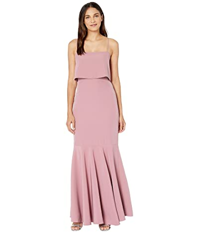 WAYF Dominic Pop Over Trumpet Skirt Gown (Mauve) Women
