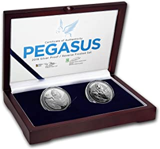 VG 2018 BVI 2-Coin Silver Pegasus Proof/Reverse Frosted Set Brilliant Uncirculated