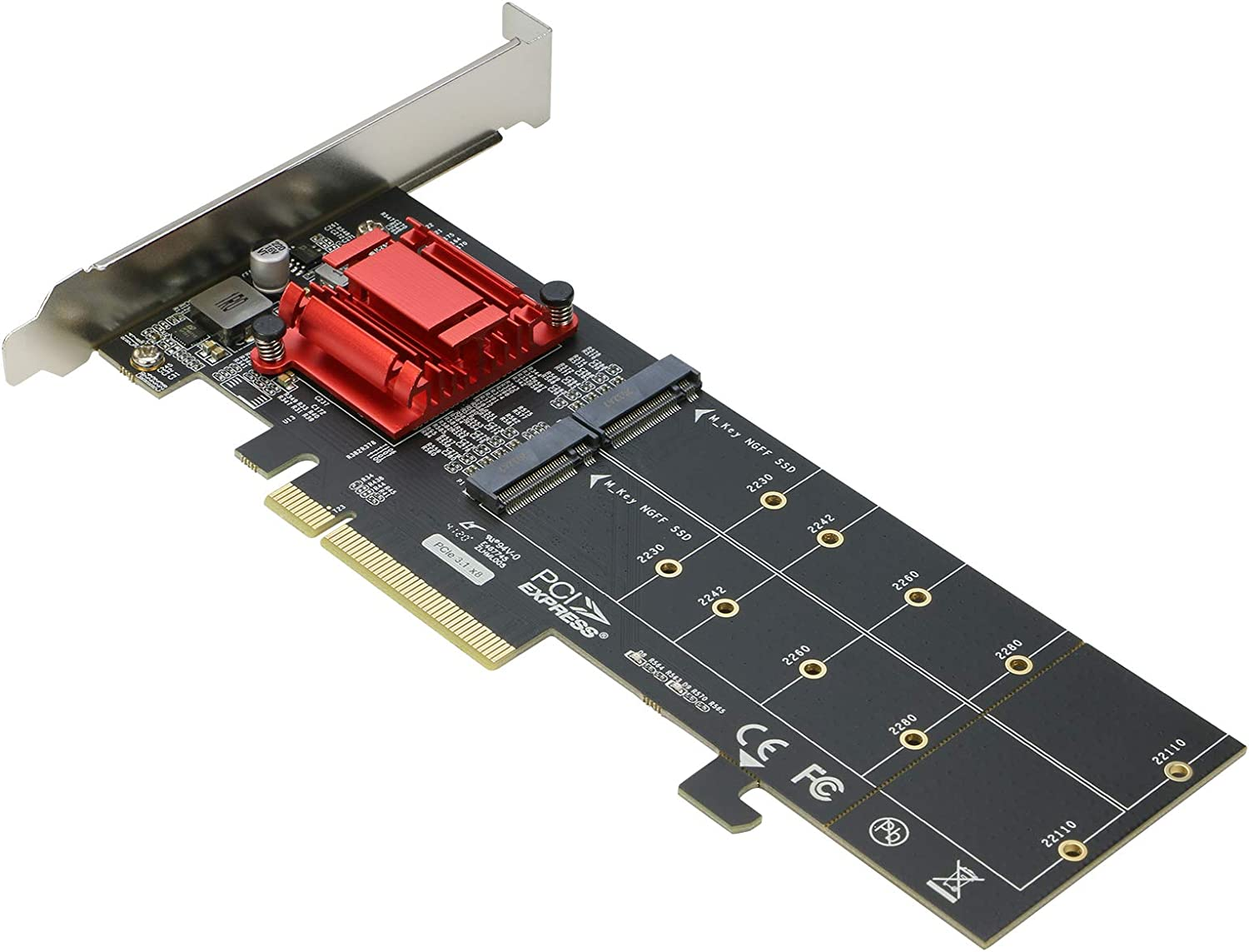Some reservation Dual NVMe PCIe Adapter RIITOP M.2 to x8 Topics on TV PCI-e SSD 3.1 x16