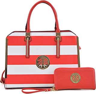 Women's Fashion Shoulder Bag Structured Top Handle Satchel Purse Work Handbag W/Wallet
